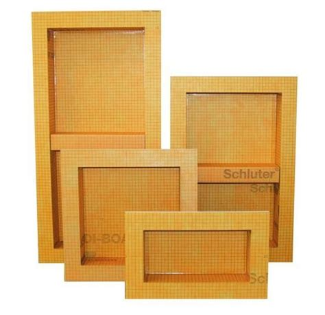 kerdi board sn prefabricated shower niche available in 4 sizes schluter systems pinterest