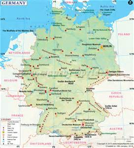 Germany On The Map by Germany Travel Guide Travel Map Of Germany