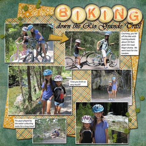 scrapbook layout cycling layouts bike on pinterest layout bike rides and wheels