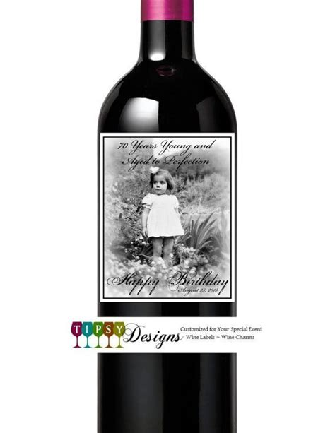 1000 images about birthday wine bottle labels on