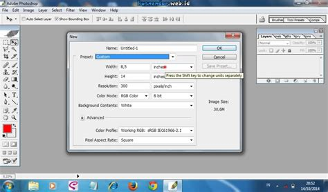 cara settingan tweekwer video max cara setting ukuran kertas f4 dan a4 di photoshop youtube
