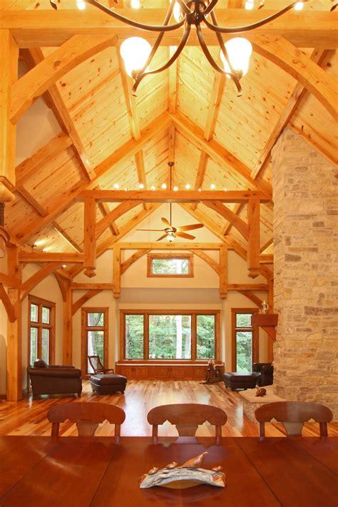 dickerson timber frame estate craftsman dining