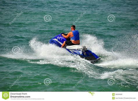 yamaha jet boat in ocean pattaya thailand man on a jet ski boat editorial image