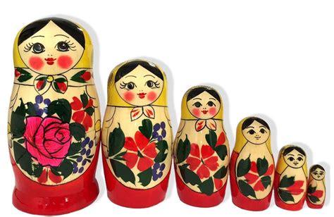 Russian Dolls The New Butterflies Owlsbirds And by Russian Semenov 6 Matryoshka Doll 5 Inch Ebay
