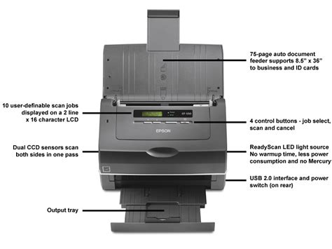 Epson Workforce Pro Gt S50 Document Image Scanner
