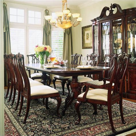 american drew cherry grove dining room set american drew cherry grove 9pc dining table set 792 744rpkg