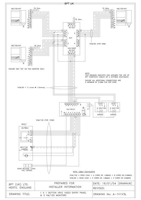 bpt wiring diagrams intercom pie chart tool