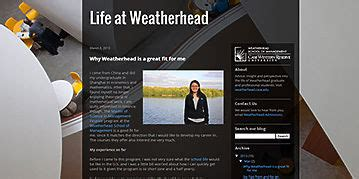 Weatherhead Mba Class Profile by Time Master Of Business Administration Mba Student