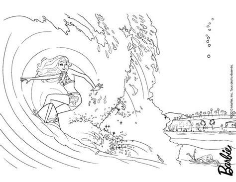 barbie surfer coloring pages barbie surfer coloring coloring pages