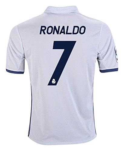 7 ronaldo real madrid home kid soccer jersey matching