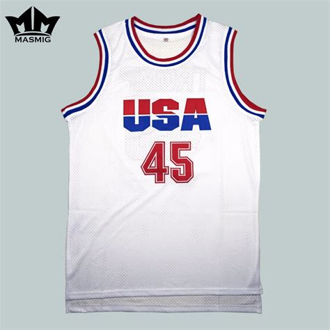 Jersey Basket Usa Hitam mm masmig donald 45 usa basketball jersey 2016 commemorative edition white for free