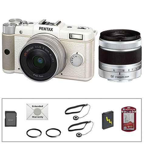 Kamera Pentax Q Kit pentax q digital dual lens kit white with deluxe b h