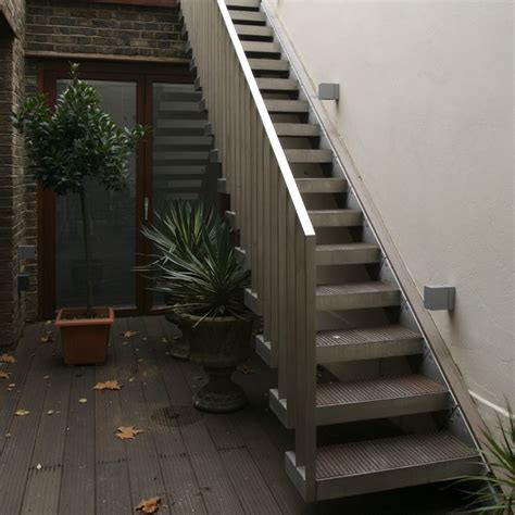 outdoor staircase design exterior design narrow outside metal stair design how to