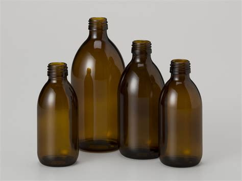 Gelas Sirop glass syrup bottle 30ml with 28ropp neck alpha packaging