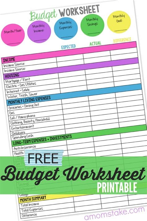 free budget templates in excel for any use