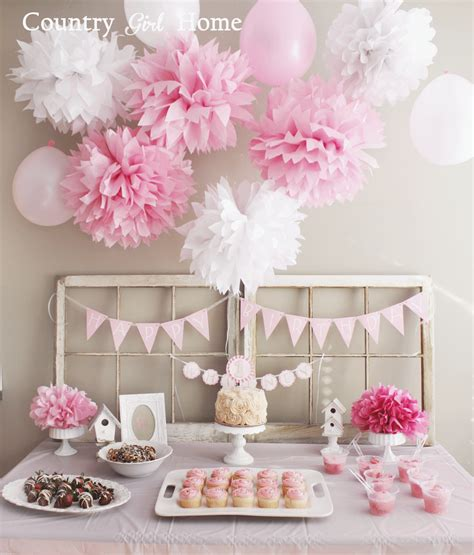 birthday decoration ideas at home for girl country girl home 1st birthday