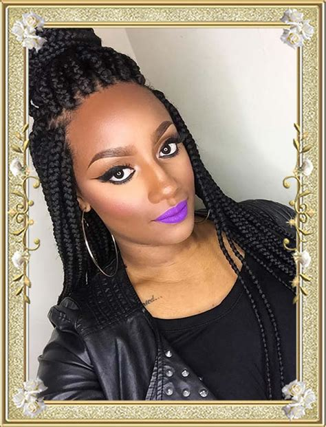 black braids hairstyle for sixty 60 delectable box braids hairstyles for black women
