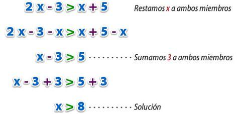 inecuaciones para primer grado primaria inecuaciones lineales con una inc 243 gnita