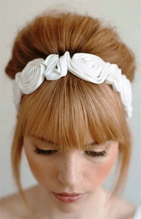 headbands with bangs attached headbands with bangs attached 25 best ideas about flower