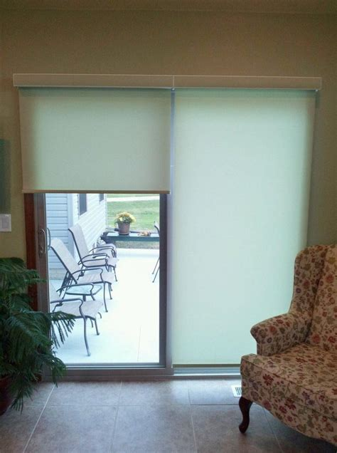 Patio Door Roller Shades Roller Shades For Sliding Patio Doors Window Treatments