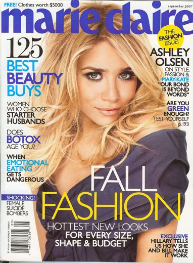 Marie Claire Magazine Sweepstakes - free 1 year subscription to marie claire magazine