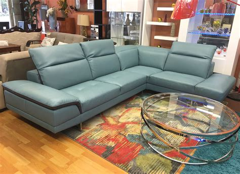 2 tone leather sofa blue two toned italian leather sectional k716 leather