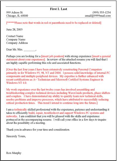 general cover letter templates free general cover letter template
