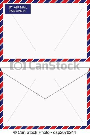 eps international mail eps vector of air mail envelope vector back and front views of an air csp2878244 search