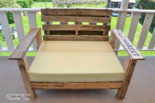 How To Make Patio Furniture With Pallets by Pallet Wood Patio Chair Build Part 2 Funky Junk