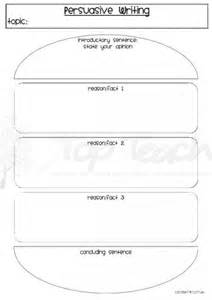 Argumentative Writing Template by Persuasive Writing Burger Template Top