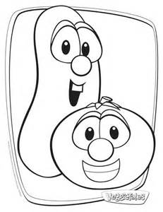 veggietales bob and larry coloring page kidzonearth com