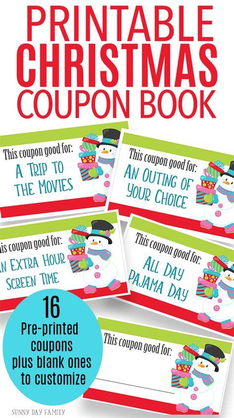 printable christmas coupons printable christmas coupons for fun gift experiences