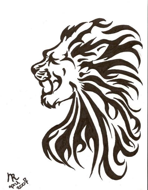 roaring lion tribal tattoo 82 design sketches