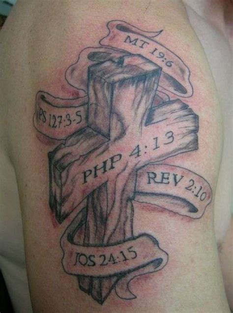 cross tattoo with verse cross tattoos tattoos including the bible verse 316