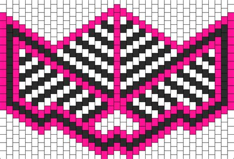 black and white kandi mask pattern pink white black kandi mask power ranger bead pattern
