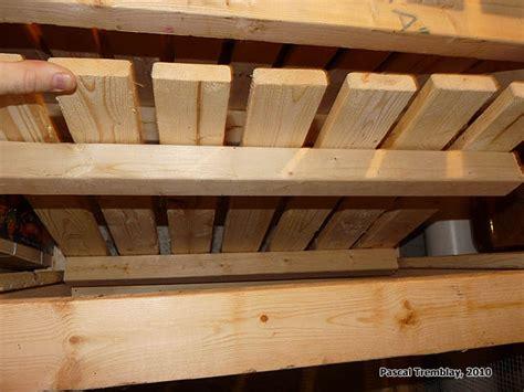 rangement chambre froide construire des casiers bacs 224 l 233 gumes pour chambre froide