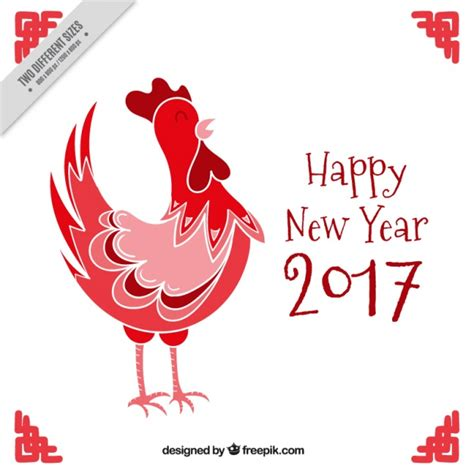 new year what does rooster happy new year 2017 background with rooster vector free