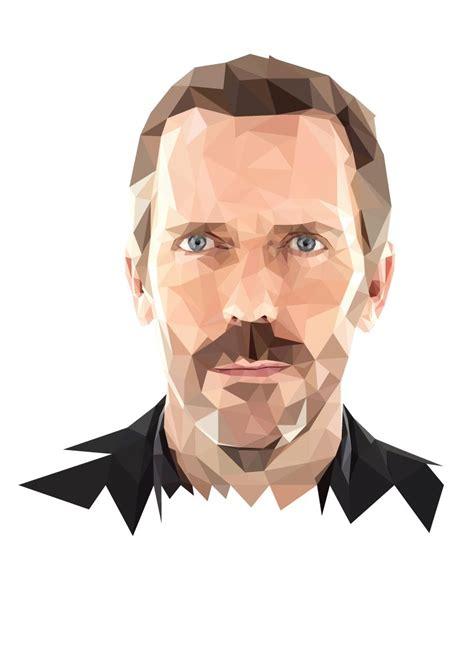 line art portrait tutorial polygon portrait timelapse hugh laurie youtube