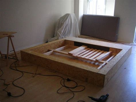 making a platform bed build a platform bed frame picture of frames