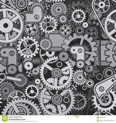 pattern mechanical engineering mechanical backdrop vector seamless pattern stock vector