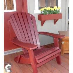 Phat Tommy Recycled Polywood Deluxe Folding Adirondack