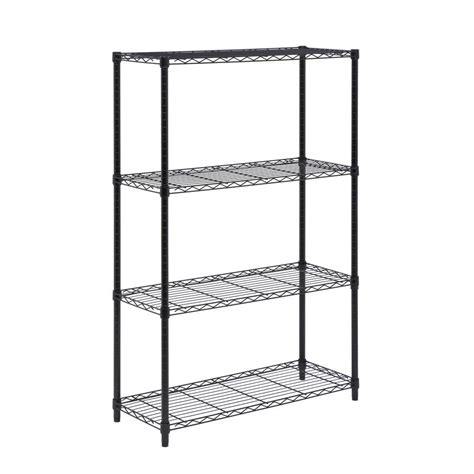 Black Metal Shelf Unit by Honey Can Do 4 Shelf 54 In H X 36 In W X 14 In D Steel