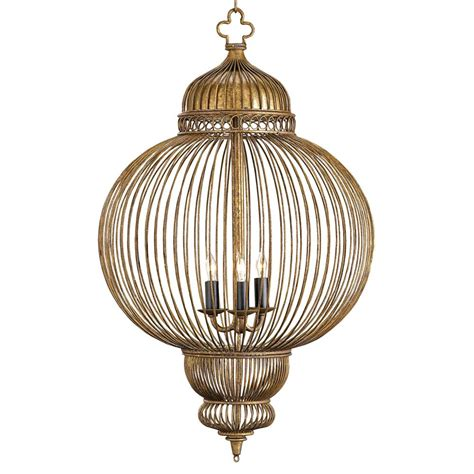 Lantern Style Pendant Lighting Claydon Antique Gold Moroccan Style 3 Light Lantern Pendant Kathy Kuo Home