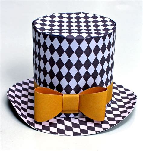 How To Make A Cool Paper Hat - mini top hats