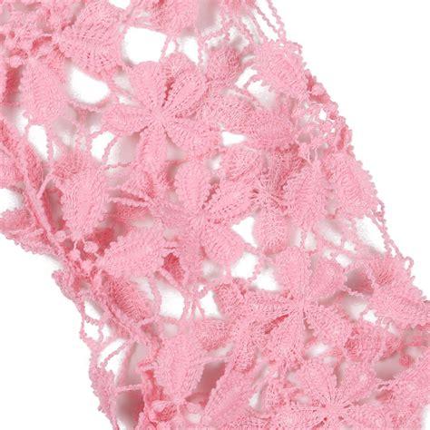 Sleeve Stitching Top stitching lace sleeve crochet blouse pink stitching hollow