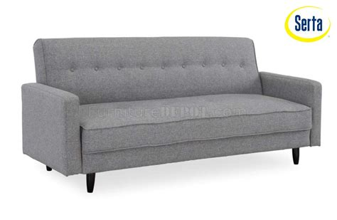 modern convertible sofa bed ash fabric modern convertible sofa bed w wooden legs