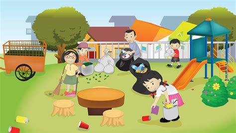 gambar kebersihan lingkungan pelestarian lingkungan alam dan buatan