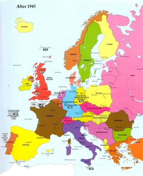 after europe europe map 1945