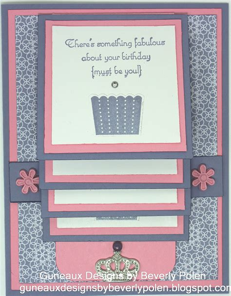 tutorial waterfall card guneaux designs by beverly polen how to make a waterfall