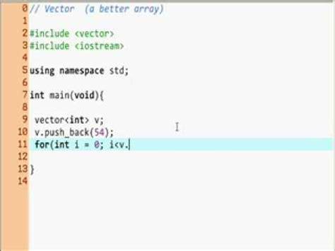 vector stl tutorial c tutorial 13 stl vectors 1 youtube